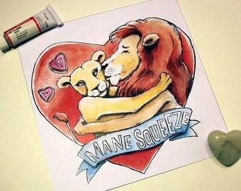 "Mane Squeeze ""Daze of Phrase"" Print"