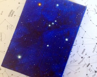 Orion and Sirius Constellation Miniature Painting