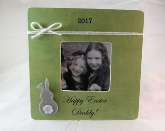 Happy Easter gifts for adults for daddy easter picture frame easter bunny personalized
