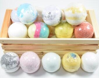 Bath Bombs with Epsom Salts - Natural Bath Bomb, Moisturizing Freshly Handmade Bath Fizzy, Aromatherapy Bath Fizzies For Luxurious Bath Soak