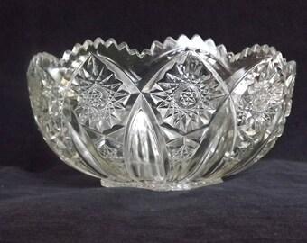 CUT GLASS BERRY Bowl