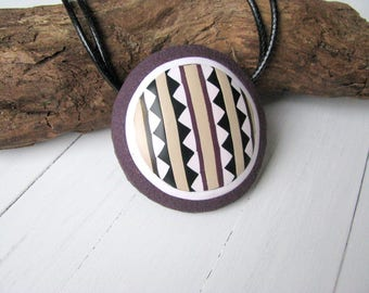 Ethnic necklace Tribal jewelry Tribal art necklace Statement jewelry Special gift for her Vintage style jewelry Unique tribal necklace