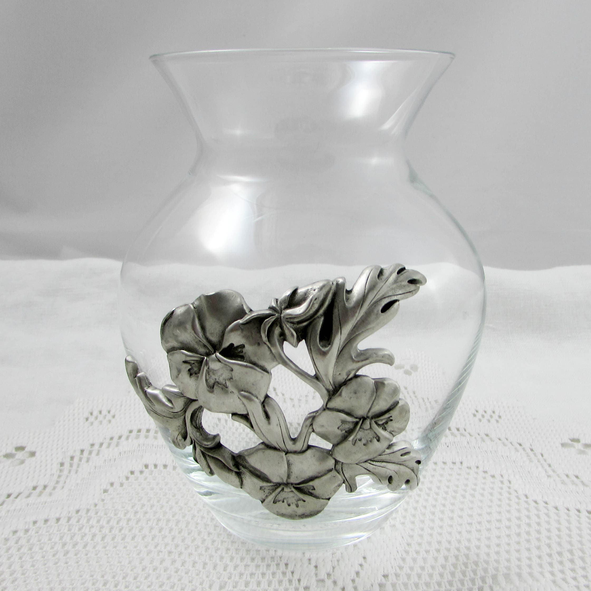 Seagull pewter flower vase vintage 55 inch tall vase glass vase reviewsmspy