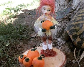 Ooak doll-fairy Doll fairy Pumpkin-