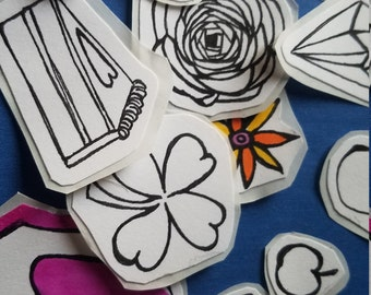 Color Your Own Assorted Stickers