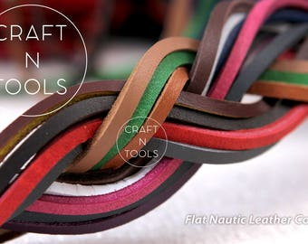Leather Cord Flat Nautic 3.5x3.0mm/Natural Leather/Licorice Cord/Regaliz Leather/Cuff Cord/Leather Cording