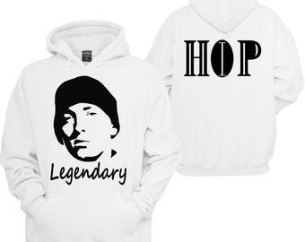 Eminem Legendary hoodie / Sweatshirt/ Hip Hop fashion and Urban Wear/ 90's Hip Hop/ the Greatest