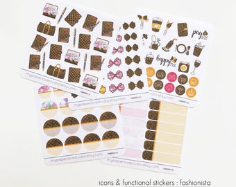 Planner Sticker / Icons / Functional Stickers : Fashionista