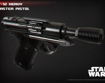 DT-12 heavy blaster pistol 3D print model