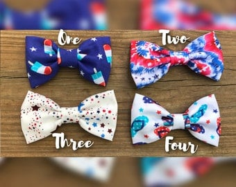 Fourth of July/labor day/memorial day/red/white/blue/flip flops/stars/tie dye/Headband/Hair Clips/girls/bow/popsicle