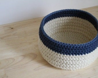 PATTERN - Nautical crochet basket pattern - Easy crochet pattern - Chunky crochet basket pattern - Easy crochet basket pattern - pdf pattern