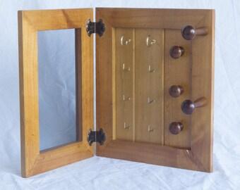 Wooden Jewellery Organiser – 2 Panel – Earring Organiser, Necklace Holder