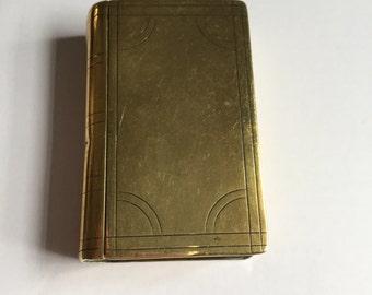 Brass Victorian Puzzle Snuff Box