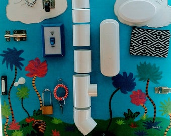 Busy Board with pvc piping