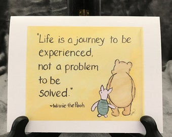 encouragement card life journey meaning of life is a journey pooh wisdom Classic Winnie the Pooh quote about life