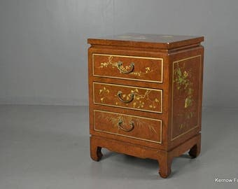 Oriental Lacquered Bedside Cabinet