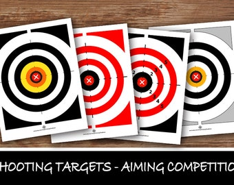 SHOOTING TARGETS – Digital file, Nerf Party, Army boys, Army girls, Aiming games, Shooting party, Shooting competitions - Instant Download-