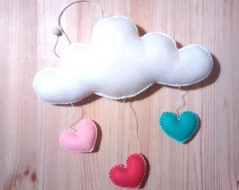 Love Cloud Mobile 'SORVETE'| Nursery Decor | Baby | Kids | It's Raining Love!