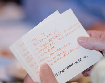 Question cards for wedding tables