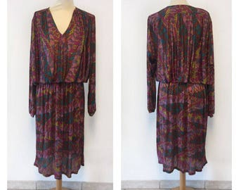 MISSONI Missoni dress years 70-silk Jersey Missoni dress size M/L