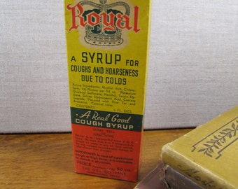 Dill's Royal Cough Syrup - Bottle, Contents and Box