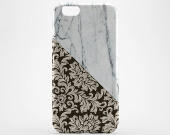 White Marble iPhone 8 Case iPhone X Case Flower iPhone 7 Plus iPhone 6 Case iPhone 7 Her Gift iPhone SE Case iPhone 4 5 Case Galaxy S7 S8