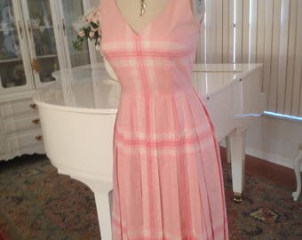 Katrina Turk Vintage Dress, Pink Dress, Designer Dress, Tailored Dress