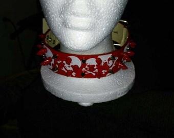 DIY spike collar
