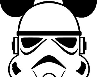 SVG disney, stormtrooper mickey, star wars, star wars mickey, disney vacation, cut file, printable,  cricut, silhouette, instant download