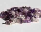 Amethyst Gemstone 60pcs  Rough Cut Purple Beads  Jewellery Making Supplies