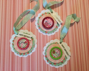 Lady bug birthday gift tags