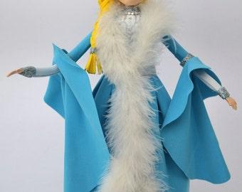 Hechos a mano decorativos blanco como la nieve, muñeca hecha a mano muñeca de papel de espuma, papel decorativo en nieve blanca esponja, Espuma esponja papel