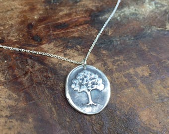 Tree Wax Seal Necklace