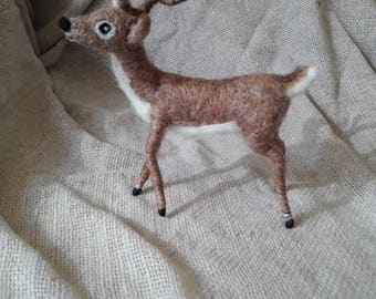 PDF PATTERN Needle Felt Magical Reindeer Kit Stag - beginner/ intermediate -The Wishing Shed Animal Deer Christmas Pattern