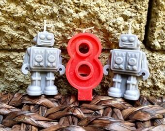 Robot Birthday Candles 6.00