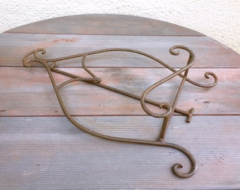 Vintage Rustic Iron Picture Frame Stand