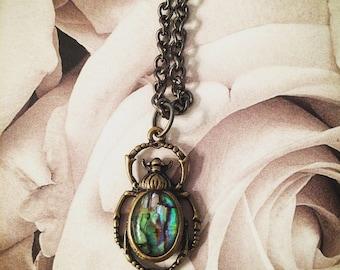 Beetle pendant necklace