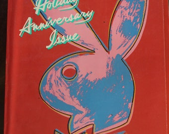Vintage 1986 Holiday Anniversary Andy Warhol Playboy