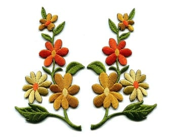 Pcs rose flower embroidery sew on applique patch clothing sticker