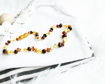Baltic Amber Teething Necklace for Baby // Teething Necklace // Baltic Amber // Amber Jewelry // Baby Amber // Teething Necklace/ Baby Gift