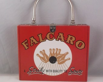 "Falcaro ""Strike With Quality to Spare"" Wood Cigar Box Purse"
