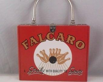 "Falcaro ""Strike With Quality to Spare"" Wood Cigar Box Purse"