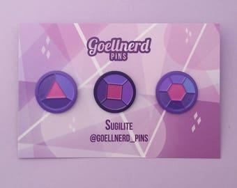 Steven Universe Sugilite Gem Pins Soft Enamel Crystal Gem Fusion Pin Set
