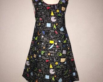 Geometry Pinafore Dress