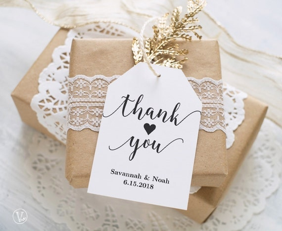 Wedding Favor Gift Tags Template : Favor Tags, Printable Wedding Favor Tags Template, Thank You Favor ...