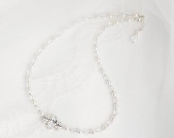 Ella Swarovski Pearl and Crystal Necklace