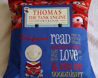 """Kids Pocket Reading Pillow, children's reading pillow, reading pillow, kid's pillow, decorative pillow"""""""