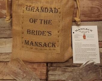 Grandad/ Grandpa's Wedding Mansack. Postage included.