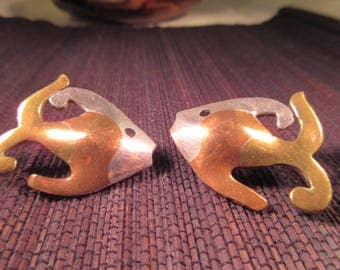 Metale Casada Fish Earrings - Mexico