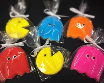 Pac-Man Sugar Cookies - 1 dozen